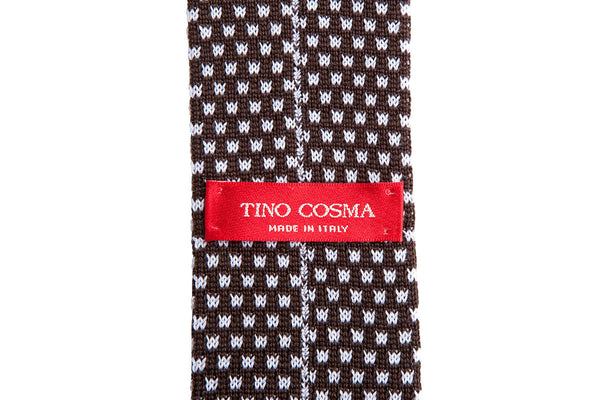 Tino Cosma cotton tie / choco brown