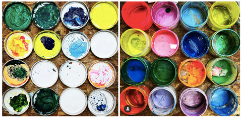 Paint pots using Bol Foods packaging