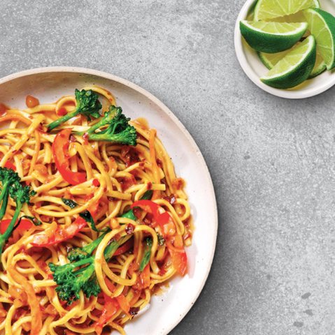 Noodle and vegetable stir fry recipe