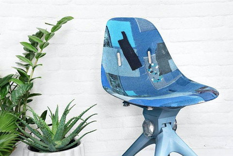 up cycled plastic chair