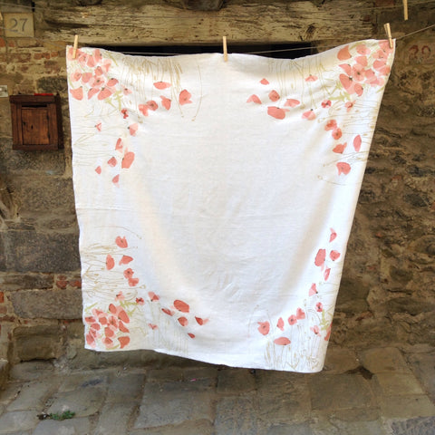 Poppy Tablecloth--Square -- SOLD OUT