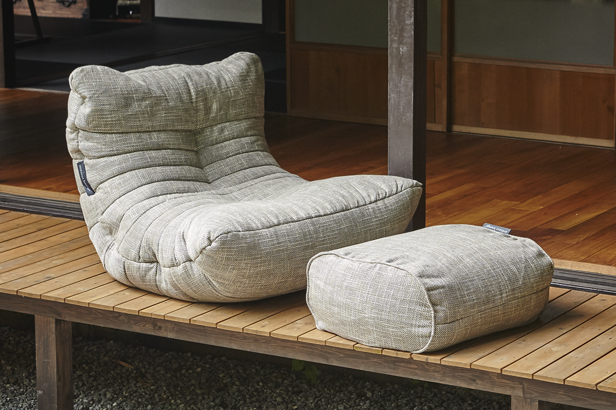 Acoustic Sofa and Ottoman in Eco Weave