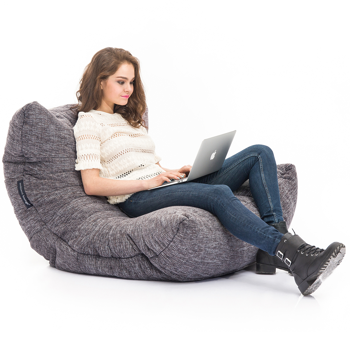 Acoustic Sofa in Luscious Grey for Working and Reading