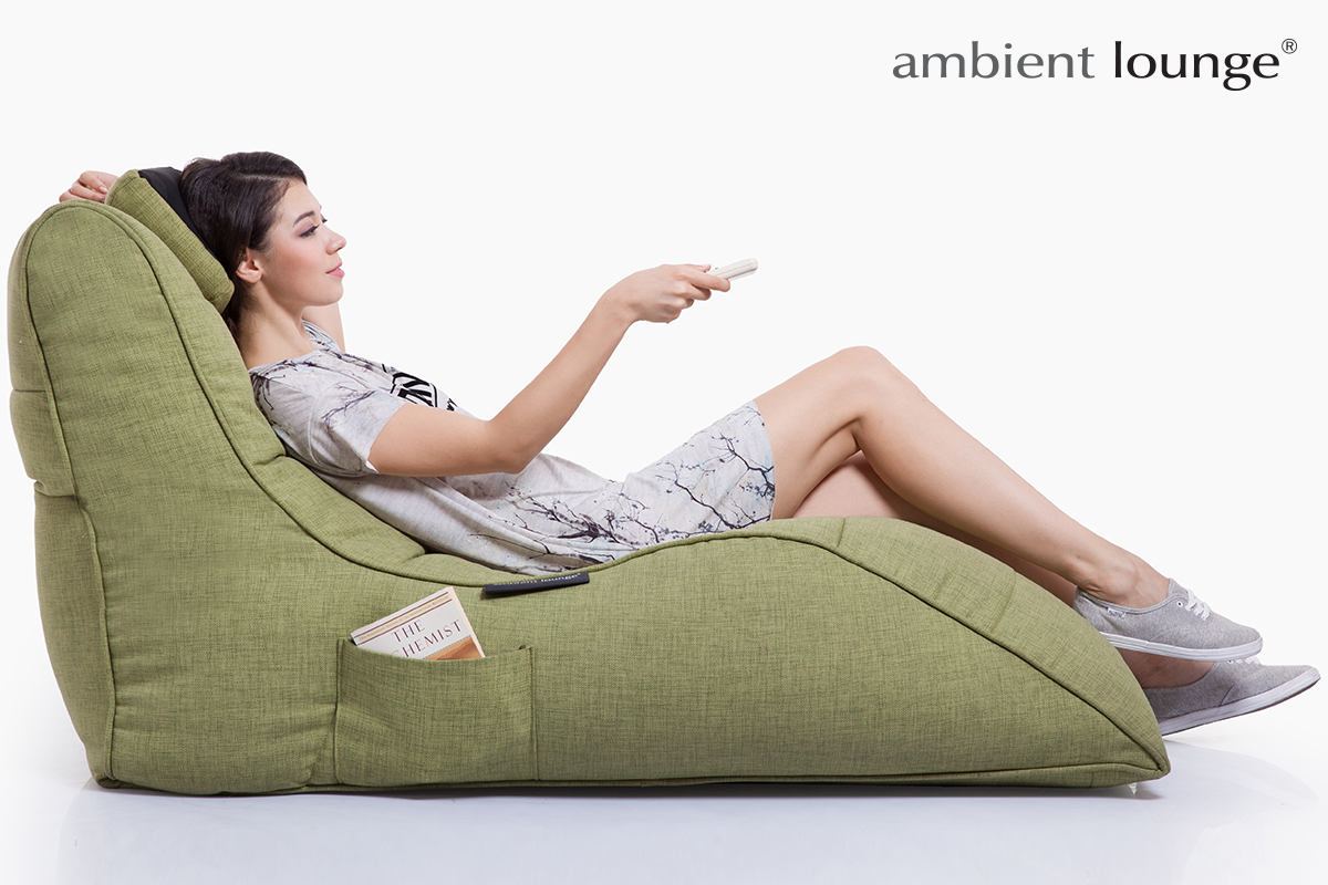 Avatar Lounger and Tech Pillow in Lime Citrus
