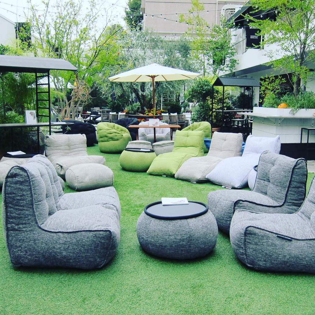 Ambient Lounge bean bag sofas and loungers in Tokyo