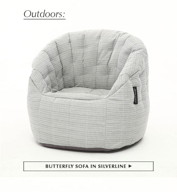Butterfly Sofa in Silverline (Waterproof, Indoor/Outdoor)