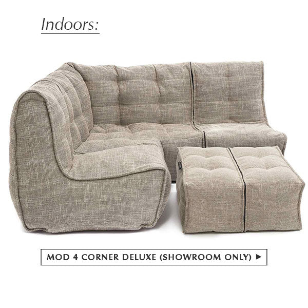 Modular MOD 4 Corner Deluxe in Eco Weave (Showroom Only)