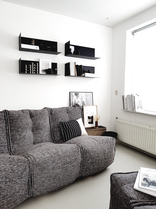 Small living room with MOD 3 Movie Couch in Luscious Grey