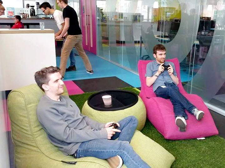Avatar Loungers and Versa Table in Skyscanner Office