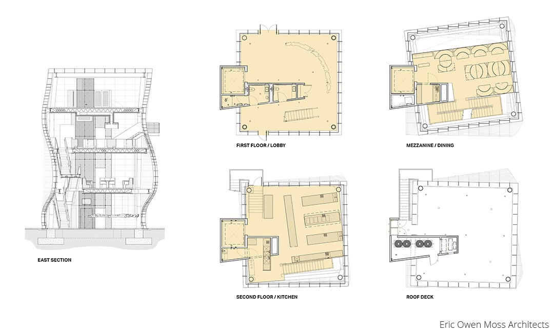 Vespertine Drawings - Floor Plans and Section