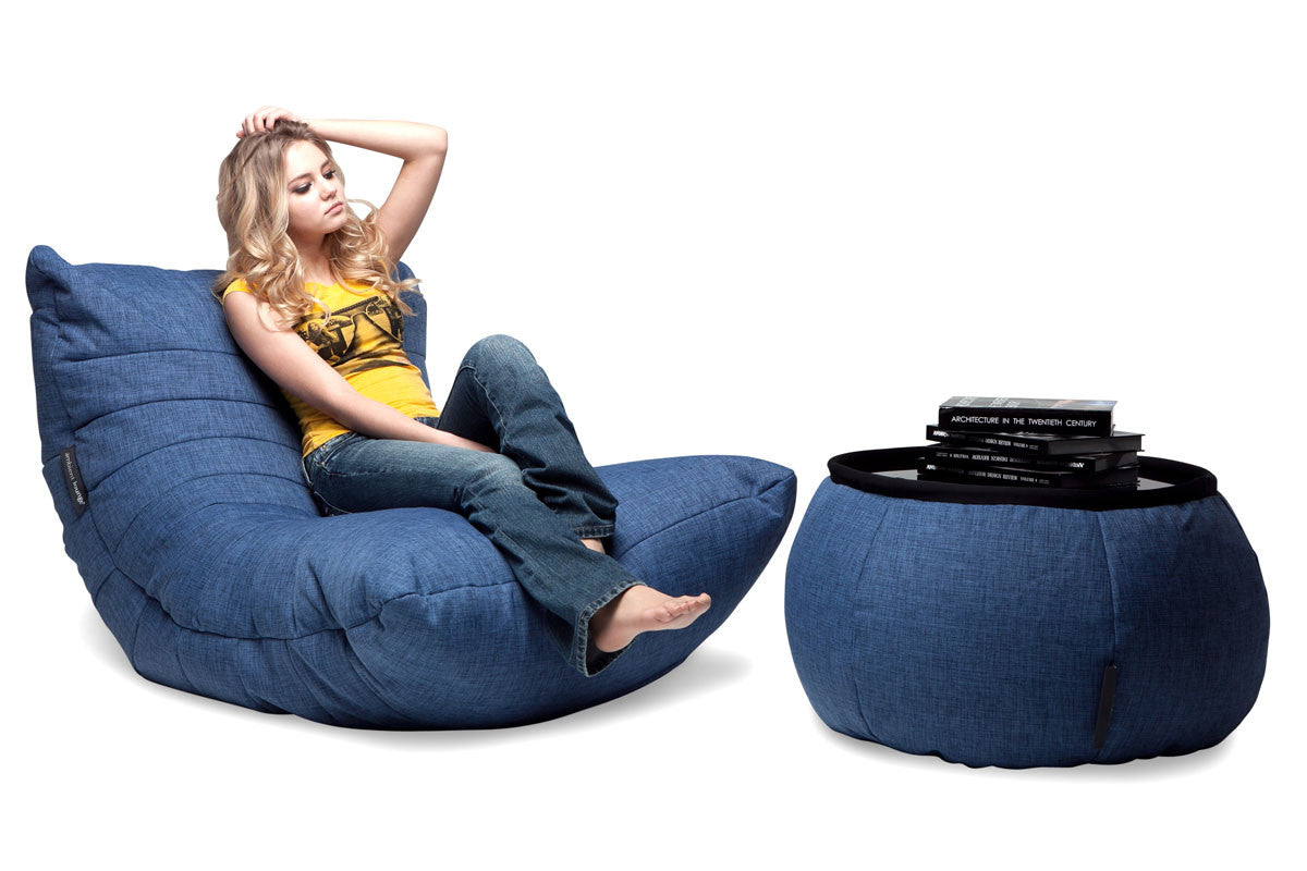 Incroyable Versa Table Bean Bag In Blue Jazz (Indoor)