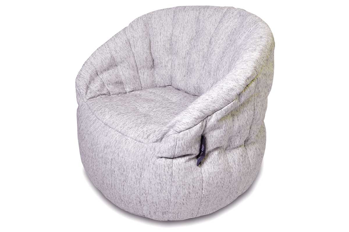 White Bean Bag Armchair Butterfly Sofa Bean Bag