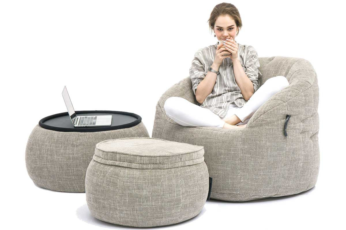 Gentil Versa Table Bean Bag In Eco Weave (Indoor)