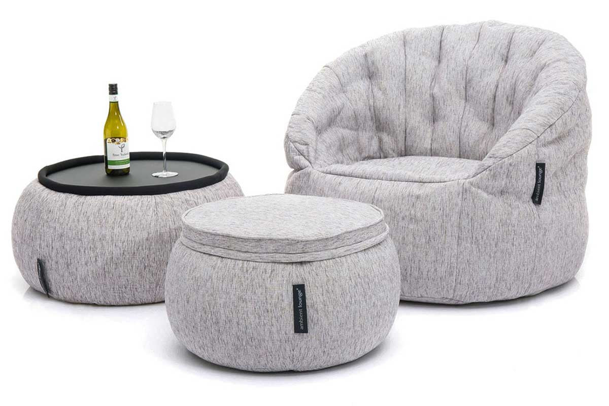 Merveilleux Versa Table Bean Bag In Tundra Spring (Indoor)