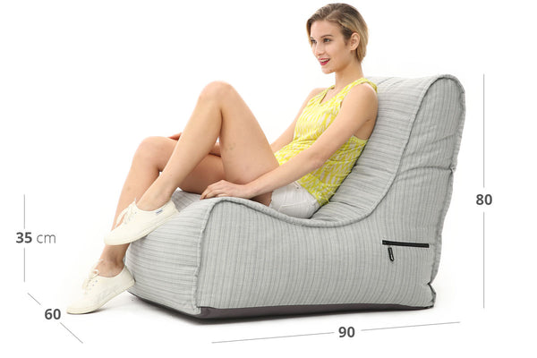 Peachy Evolution Sofa Deluxe Bean Bag In Silverline In Outdoor Alphanode Cool Chair Designs And Ideas Alphanodeonline
