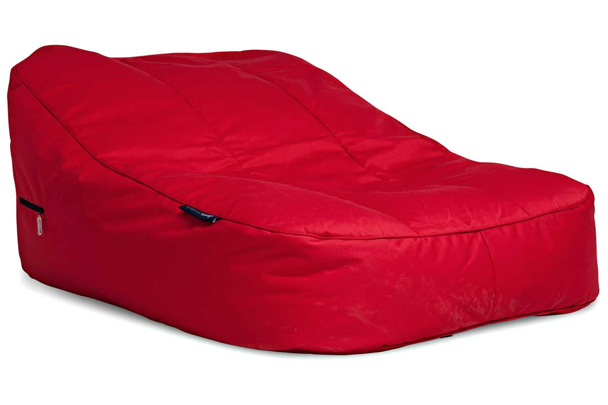 Red 2 Seater Sun Lounger Large Outdoor Bean Bag Daybed