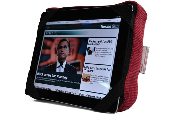 Red Ipad Case Headrest Gift Tech Pillow Singapore Ambient Lounge Singapore Southeast Asia
