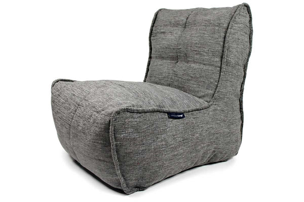 Grey Sofa Unzips To 2 Chairs Twin Couch Bean Bag