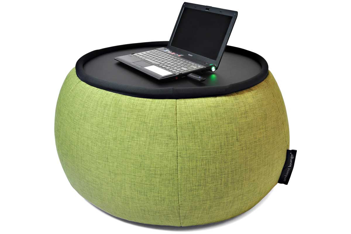 Superieur Versa Table Bean Bag In Lime Citrus (Indoor)