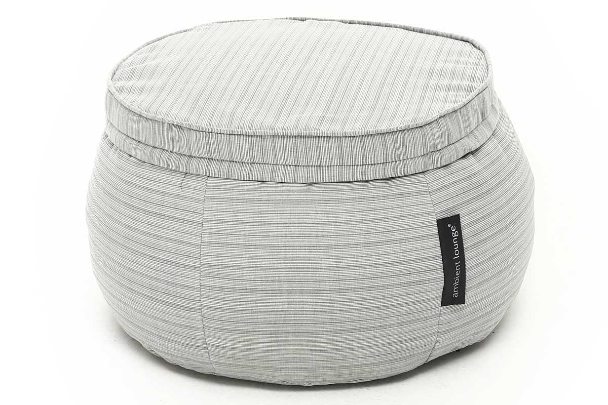 Grey memory foam outdoor ottoman wing ottoman bean bag singapore ambient lounge singapore southeast asia