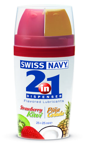 Swiss Navy 2 in 1 Flavored Lube Strawberry Kiwi/Pina Colada