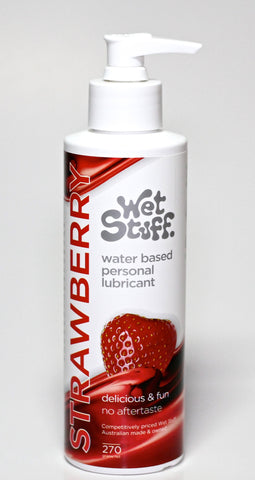 Wet Stuff Strawberry Flavor Water Based Lube 270g Pump Top