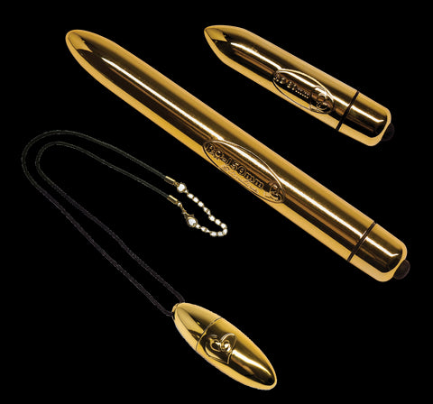 Rocks Off Gold Bullet Vibrator Collection Gold VAT1