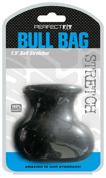 PerfectFit Bull Bag Ball Stretcher 1.5in Cock Ring Black VAT1
