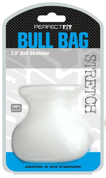 PerfectFit Bull Bag Ball Stretcher 1.5in Cock Ring Clear VAT1