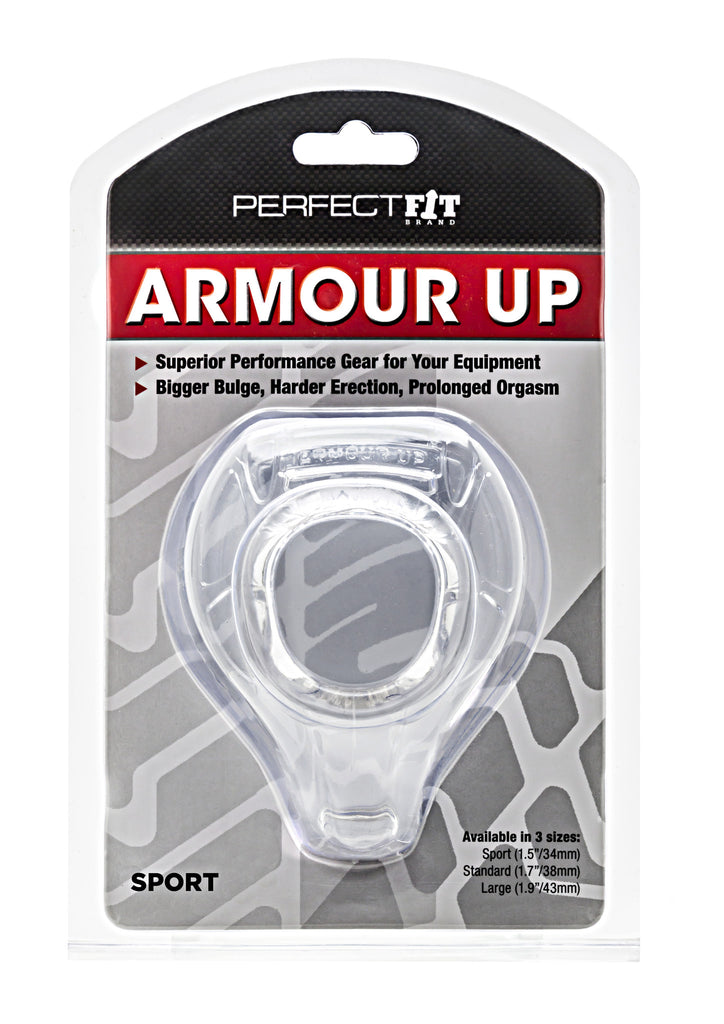 PerfectFit Armour Up Sport Cock Ring Clear VAT2