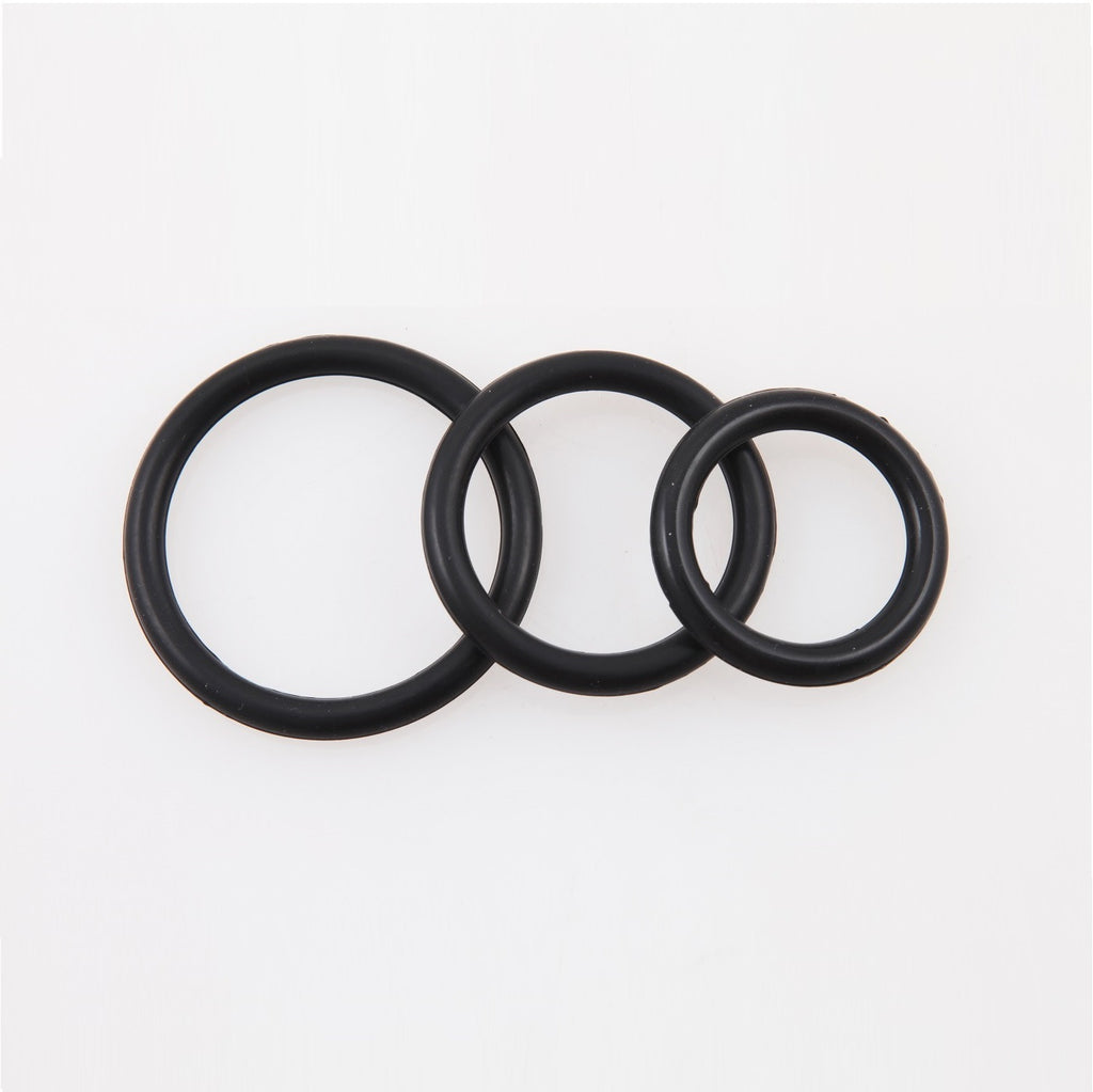 PerfectFit Silicone 3 Cock Rings Kit Mix Black
