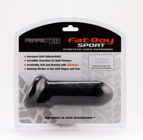 PerfectFit Fat Boy Extender Sport 6.5in Penis Extension Black