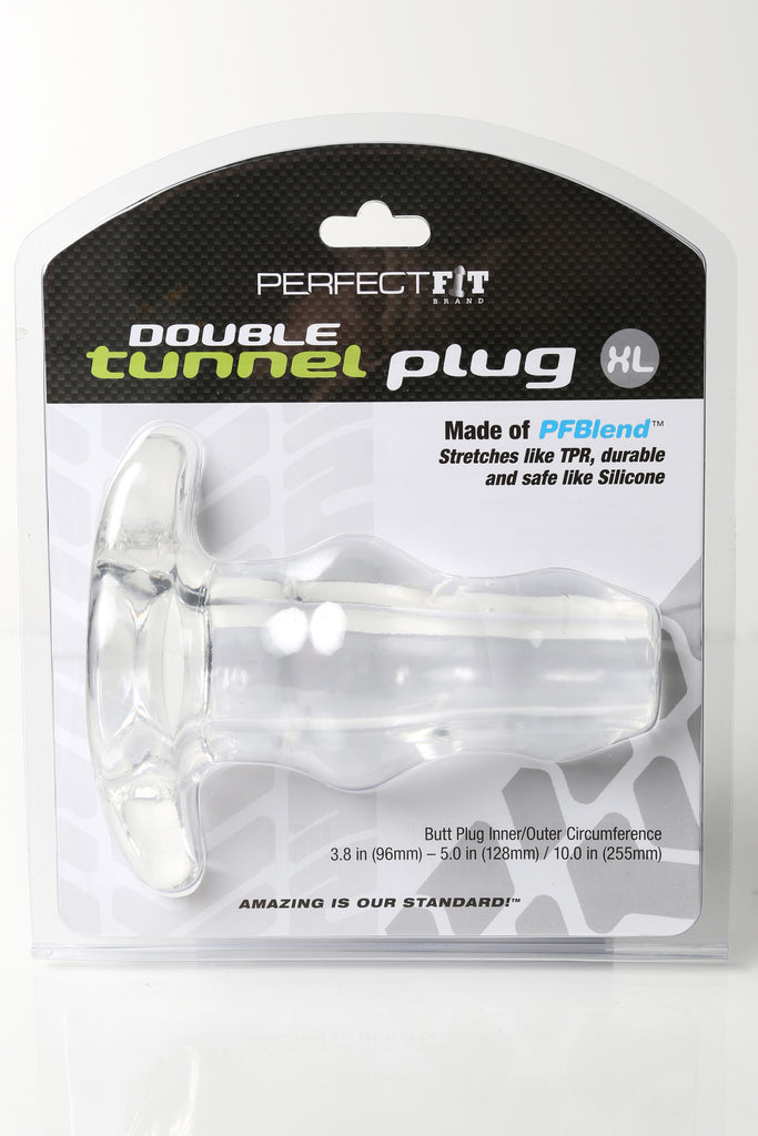 PerfectFit Double Tunnel Plug XL Clear