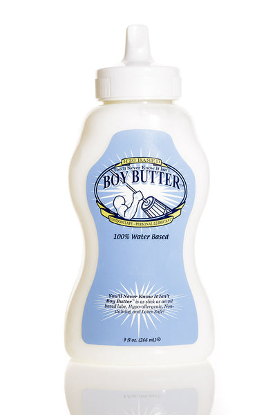 Boy Butter H2O Water Based Lube 9oz Squeeze Tube
