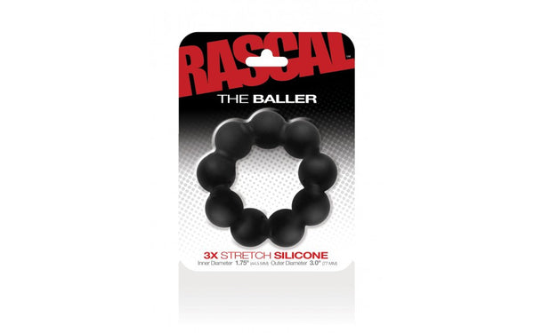 Rascal The Baller Cock Ring Black VAT1