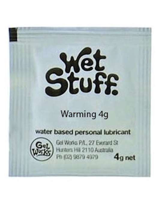 Wet Stuff Warming Water based lube 4g Sachets (100pk)