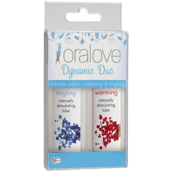 Doc Johnson Oralove Sensations 2 pack lube warming and tingling- VAT