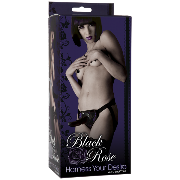 Doc Johnson Vac U Lock Black Rose Harness Your Desire Set- VAT