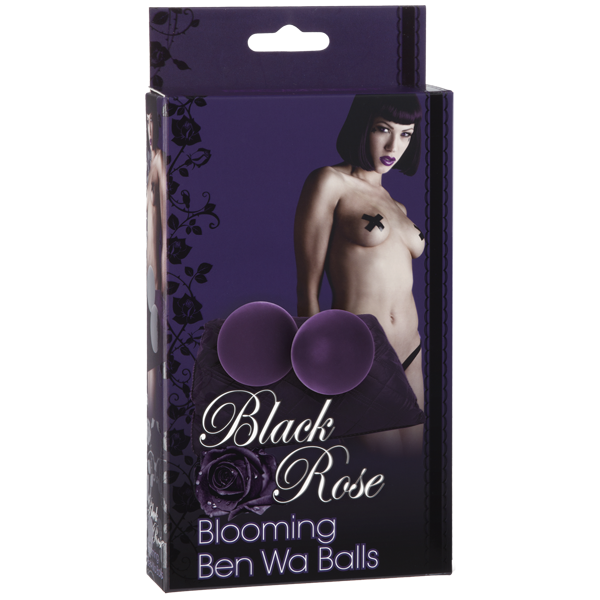 Doc Johnson Black Rose: Blooming Ben Wa Balls- VAT2