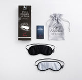Fifty Shades of Grey No Peeking Black & Silver Set Blindfold