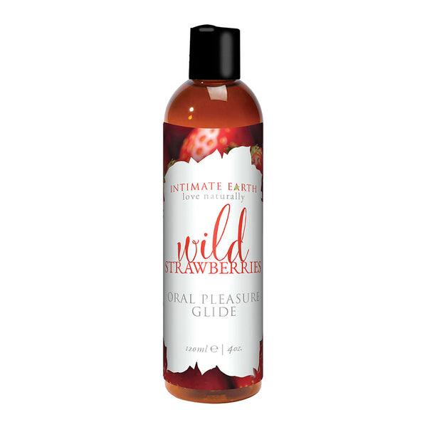 Intimate Earth Flavored Lube Wild Strawberries