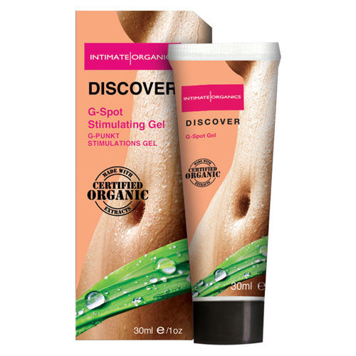 Intimate Organics Discover G-Spot Gel Water Based Lube 30ml