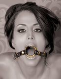 PipeDream Fetish Fantasy Gold O-Ring Gag Black- VAT4