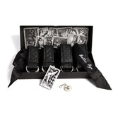 Bettie Page Sweet On Satin Restraints Set Black