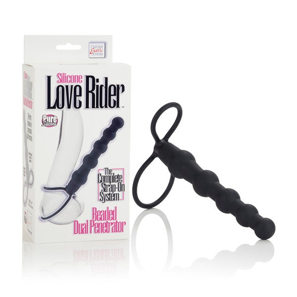 California Exotic Novelties Silicone Love Rider Beaded Dual Penetrator- VAT7