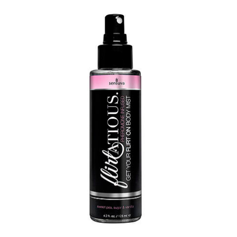 Sensuva Flirtatious Body Mist 4.2oz Bottle Sexual Stimulant Vanilla, Sugar, & Sweet Pea