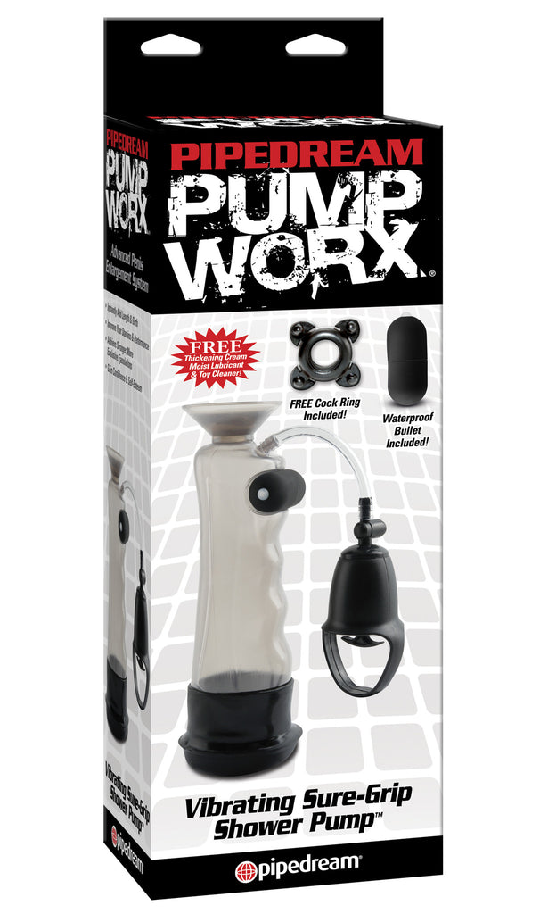 PipeDream Pump Worx Vibrating Sure Grip Shower Pump- VAT