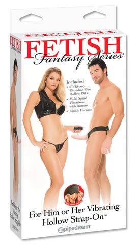 PipeDream Fetish Fantasy Vibrating Hollow Strap On for Him or Her- VAT4