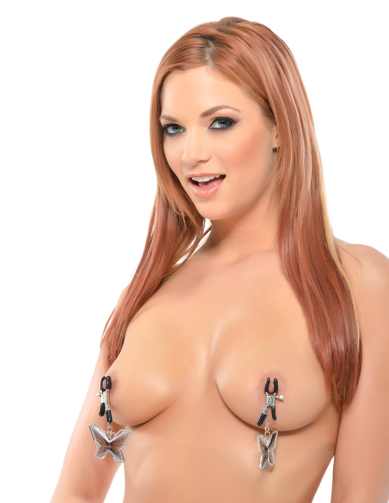 PipeDream Fetish Fantasy Butterfly Nipple Clamps- VAT3