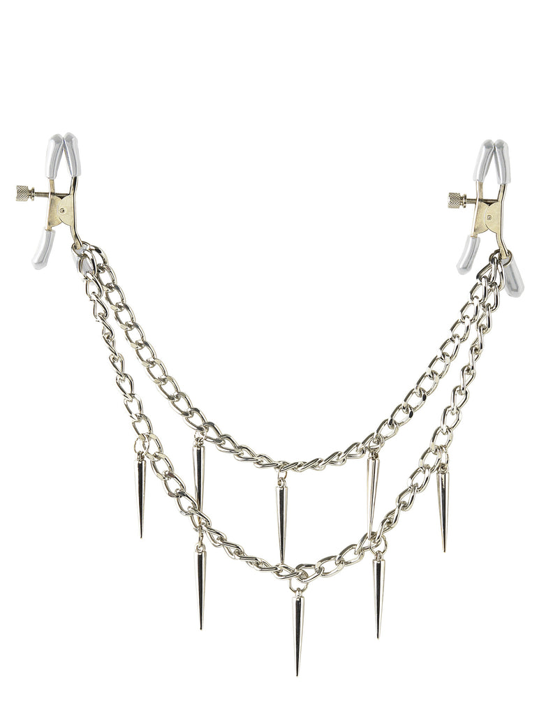 PipeDream Fetish Fantasy Series Rock Hard Nipple Clamps Silver- VAT2